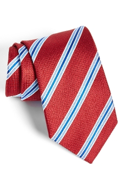 Silk Stripe Tie by David Donahue in Unfinished Business