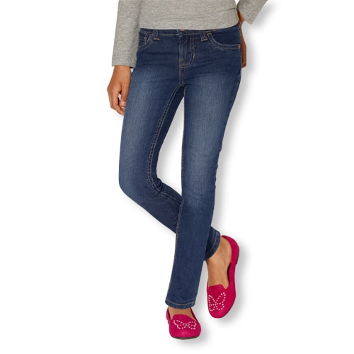 Girls High-Rise Dark-Wash Super Skinny Jeans by Children's Place in Sinister 2