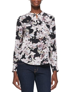 Floral-Print Double-Pocket Blouse by Rebecca Taylor in How To Get Away With Murder