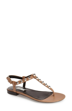 Studded Leather Thong Sandals by Balenciaga in Ballers