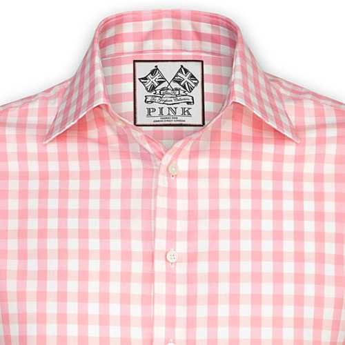 Plato Check Shirt - Button Cuff by Thomas Pink in The Wolf of Wall Street