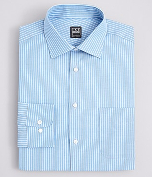 Dobby Stripe Dress Shirt by Ike Behar in Criminal