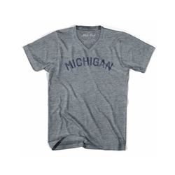 Michigan City Vintage V-Neck T-Shirt by Mile End Sportswear in The Good Place