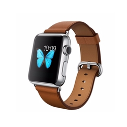 Stainless Steel Case with Saddle Brown Classic Buckle Watch by Apple in Pretty Little Liars