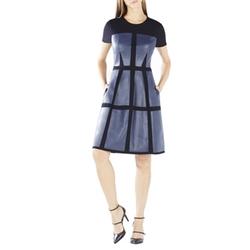 BCBG Max Azria Dottie Blocked Faux-Leather Dress