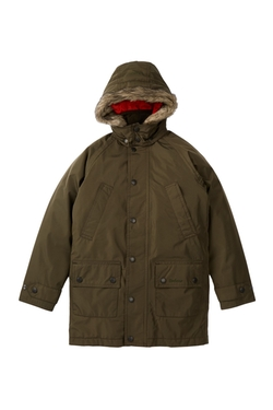 Featherweight Faux Fur Trim Parka Jacket by Barbour in Elf