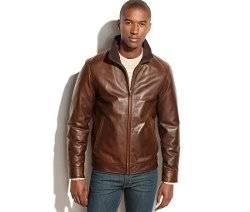 Vintage Leather Jacket by Vince Camuto in Top Five