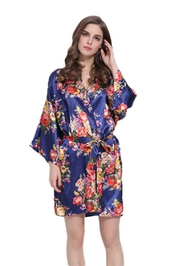 Gorgeous Floral Navy Robe by Modern Celebrations in New Girl