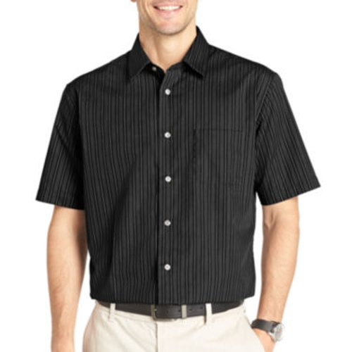 Short-Sleeve No-Iron Woven Shirt by Van Heusen in The D Train