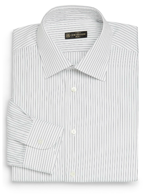 Fine Striped Dress Shirt by Corneliani in Yves Saint Laurent
