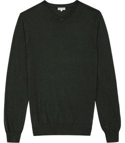 Emporer Merino V-Neck Sweater by Reiss in Modern Family