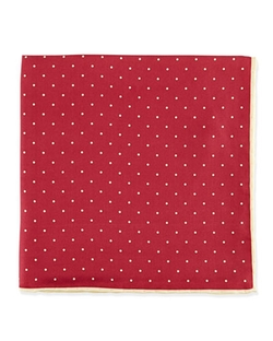 Dot-Print Pocket Square by Neiman Marcus in Ballers
