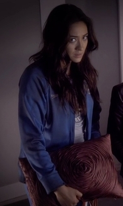 "Custom Made ""Rosewood High - Sharks"" Speedo Warm Up Jacket by Mandi Line (Costume Designer) in Pretty Little Liars"