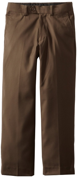 Boys' Solid Dress Pants by Isaac Michael in Pan