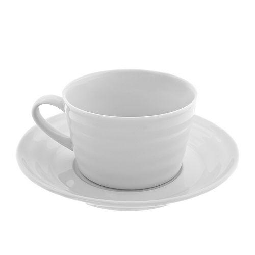 Swing White 12-pc Oversized Cup & Saucer Set by Strawberry Street in Neighbors