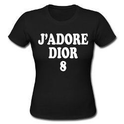 J'Adore Dior 8 Print T-Shirt by Christian Dior in Sex and the City 2