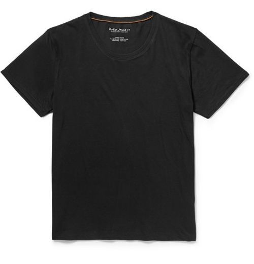 Cotton-Jersey Crew Neck T-Shirt by Nudie Jeans in Fast Five