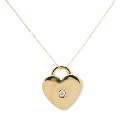 Two Toned Heart Necklace by Lord & Taylor in The Big Bang Theory