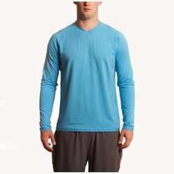 Men's Clubhouse Long Sleeve V-neck Tee by Tasc Performance in The Other Woman