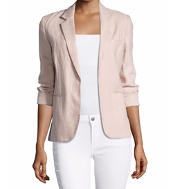 Mehira Chambray Blazer by Joie in Rosewood