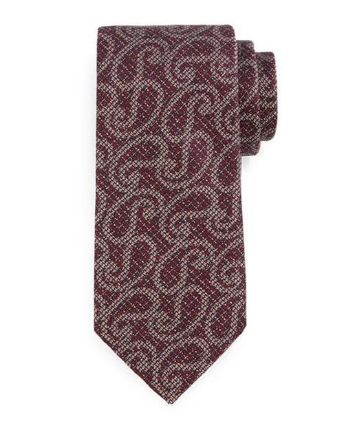 Heathered Paisley-Print Tie by Ermenegildo Zegna in Scarface