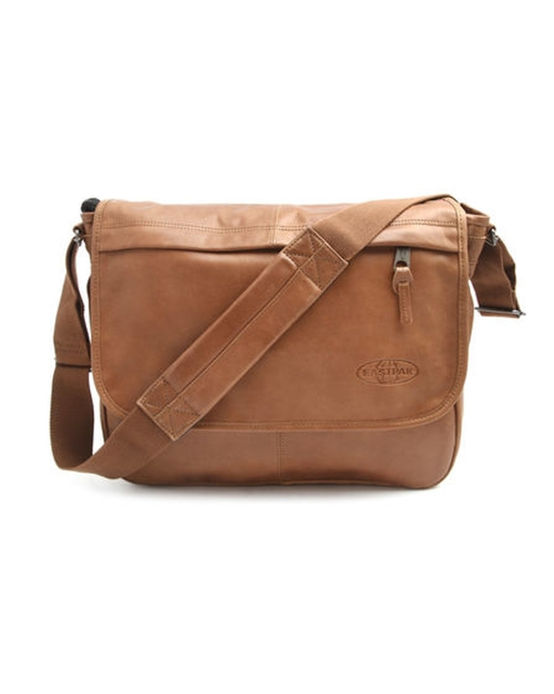 Delegate Camel Leather Messenger Bag by Eastpak in Daddy's Home