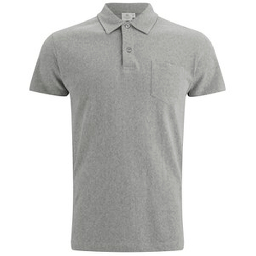 Men's Short Sleeve Placket Riviera Polo Shirt by Sunspel in The Walk