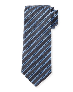 Icon Stripes Silk Tie by Davidoff in Scandal