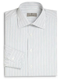 Regular-Fit Striped Dress Shirt by Canali in Life