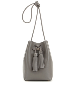 Leather Double Tassel Medium Bucket Bag by Tom Ford in Suits