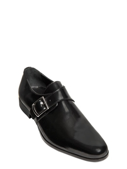 Brushed Leather Monk Strap Shoes  by Dino Draghi  in Elementary