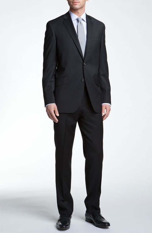 'Jones' Trim Fit Wool Suit by Ted Baker London in Life
