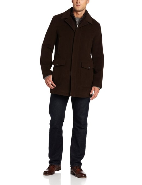 Classic Cashmere Topper Coat by Cole Haan in Thor