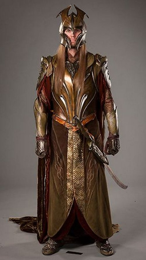 Custom Made Woodland Realm Elvish Armor Costume by Ann Maskrey & Bob Buck (Costume Designer) in The Hobbit: The Battle of The Five Armies