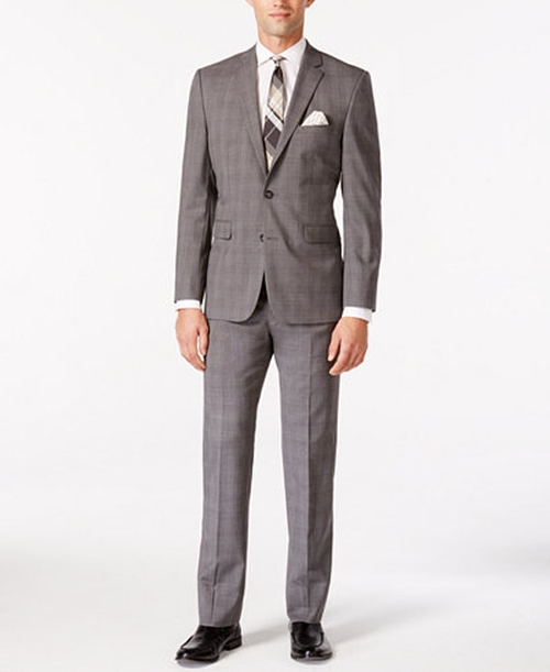Men's Windowpane Slim Fit Suit by Vince Camuto in Empire