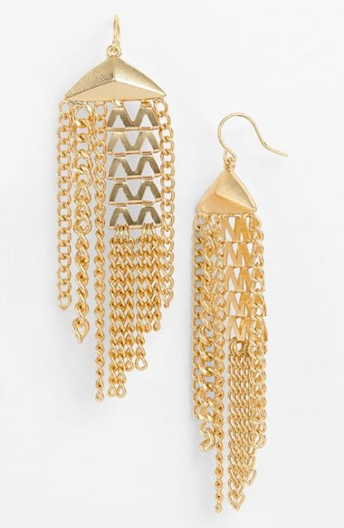 'Vintage Girl' Tassel Drop Earrings by Nordstrom in Hercules