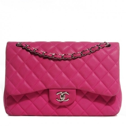 Iridescent Caviar Jumbo Double Flap Bag by Chanel in The Mindy Project