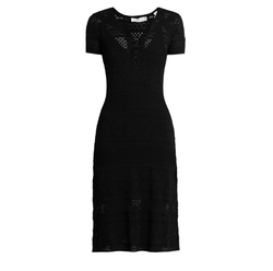 Trevi V-Neck Eyelet-Knit Dress by A.L.C. in Fifty Shades Darker