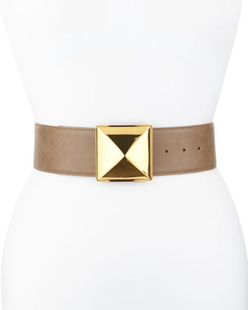 Pyramid Buckle Wide Belt by Stella McCartney in Scream Queens - Season 1 Episode 4