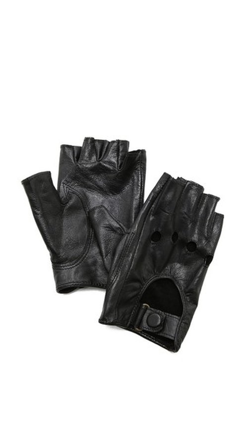 Fingerless Moto Gloves by Carolina Amato in The Heat