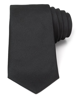 Solid Satin Classic Tie by Turnbull & Asser in Demolition