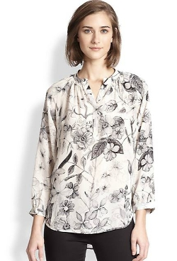 Silk Floral-Print Blouse by Rebecca Taylor in The Second Best Exotic Marigold Hotel