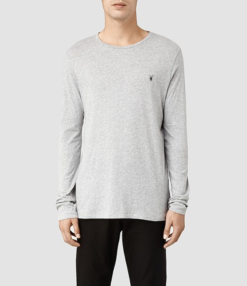 Tonic Long Sleeved Crew T-Shirt by AllSaints in Begin Again