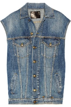 Oversized Denim Vest by R13 in If I Stay