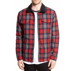 Trailer Quilt Lined Flannel Jacket by Obey in Animal Kingdom
