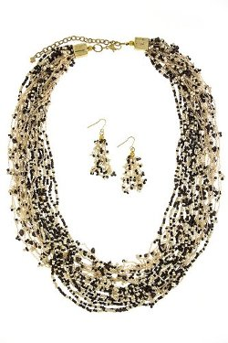 Seed Bead Layer Necklace Set by The Jewel Rack in If I Stay