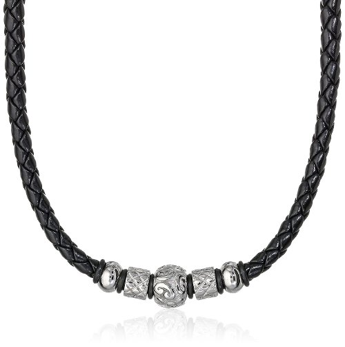 Tribal Bead Black Leather Necklace by Cold Steel in While We're Young