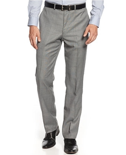 Sharkskin Trim-Fit Pants by Kenneth Cole New York in Pitch Perfect 2