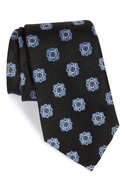 Floral Medallion Silk Tie by Nordstrom Men's Shop in Billions