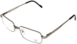 Silver Matte Unisex Eyeglasses by Dunhill in Ex Machina